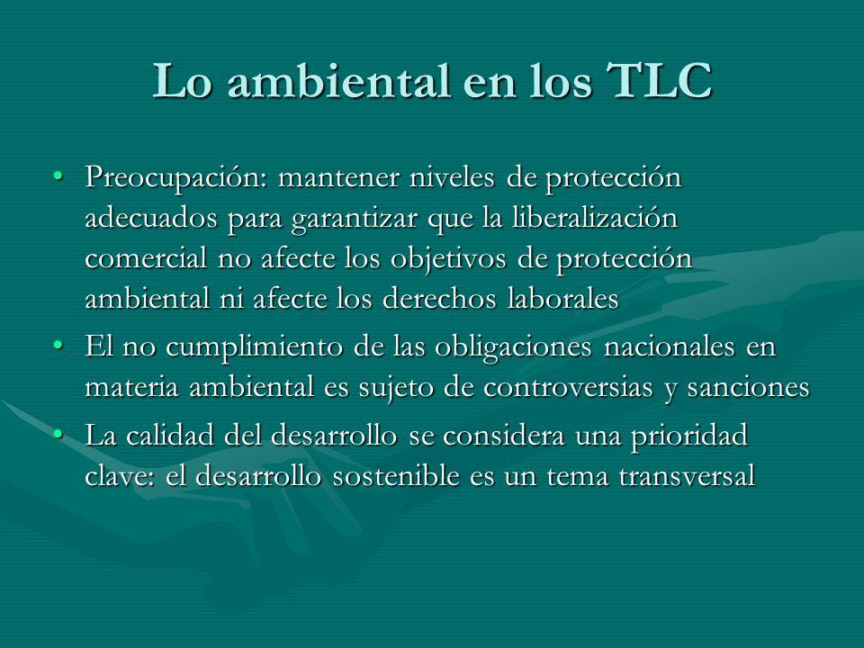 Lo ambiental en los TLC