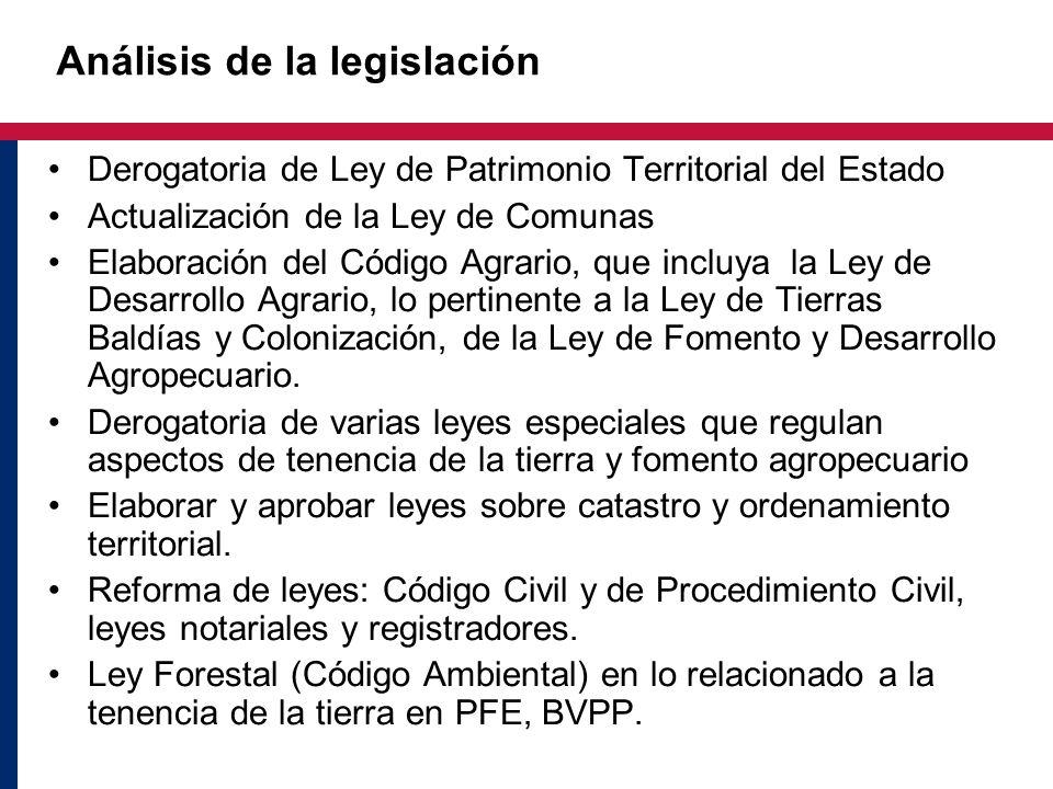 Análisis de la legislación