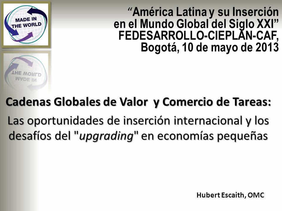 Cadenas Globales de Valor y Comercio de Tareas: