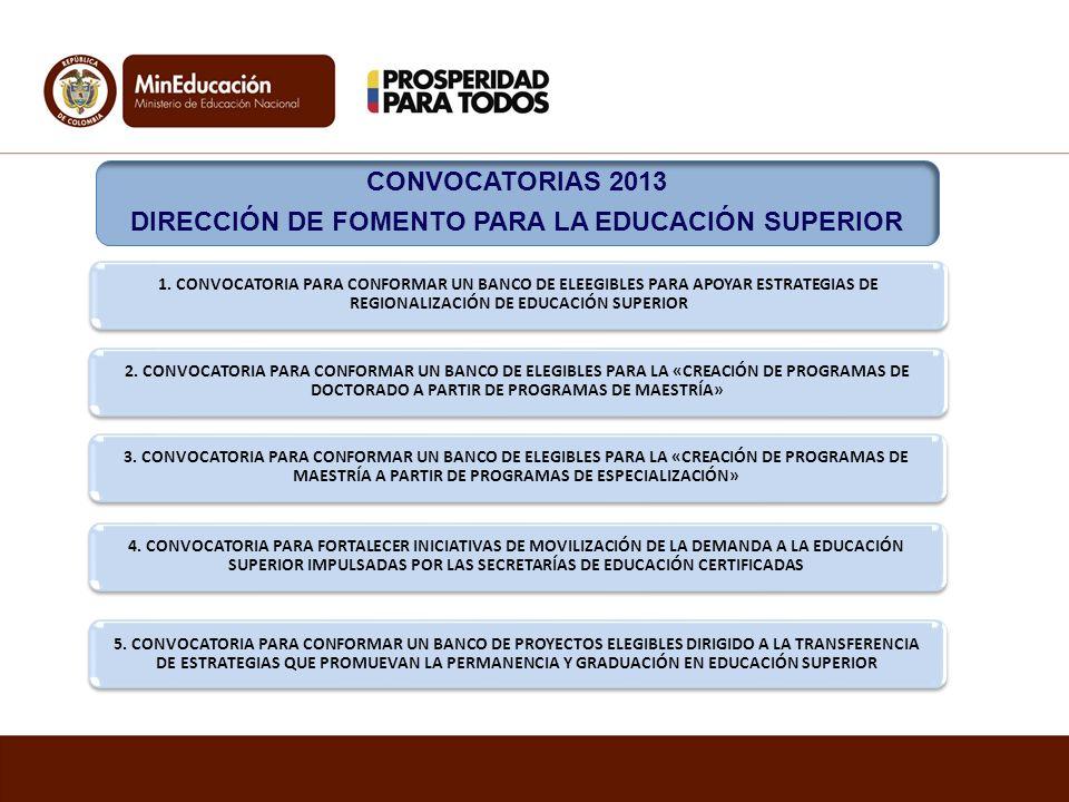 DIRECCIÓN DE FOMENTO PARA LA EDUCACIÓN SUPERIOR