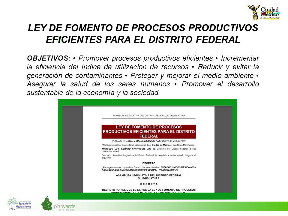 Ley de Fomento de Procesos Productivos Eficientes para el Distrito Federal
