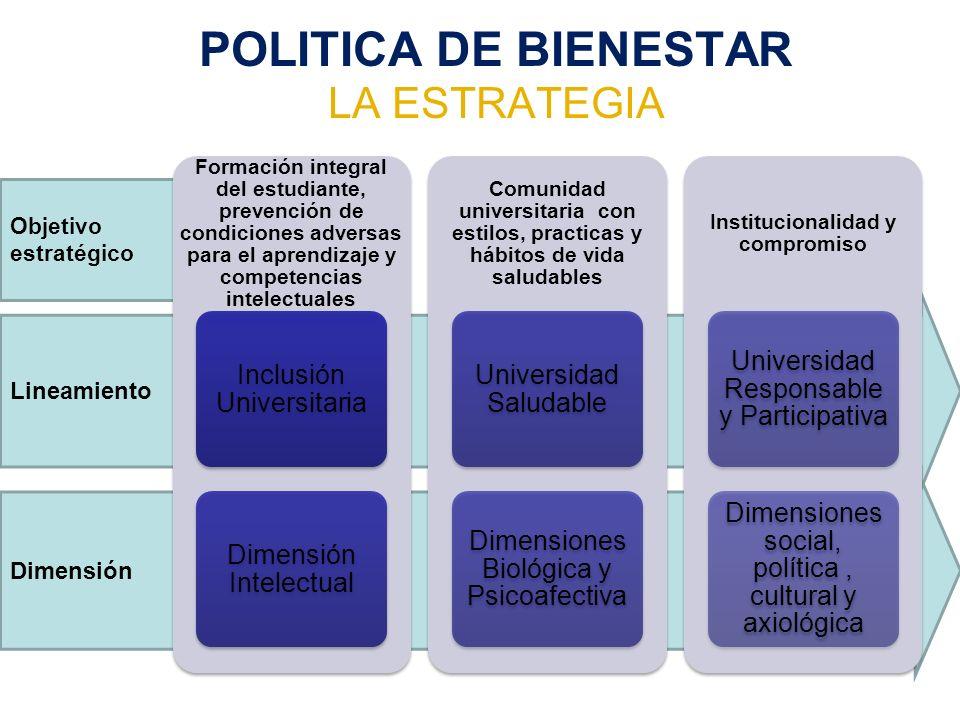 POLITICA DE BIENESTAR LA ESTRATEGIA