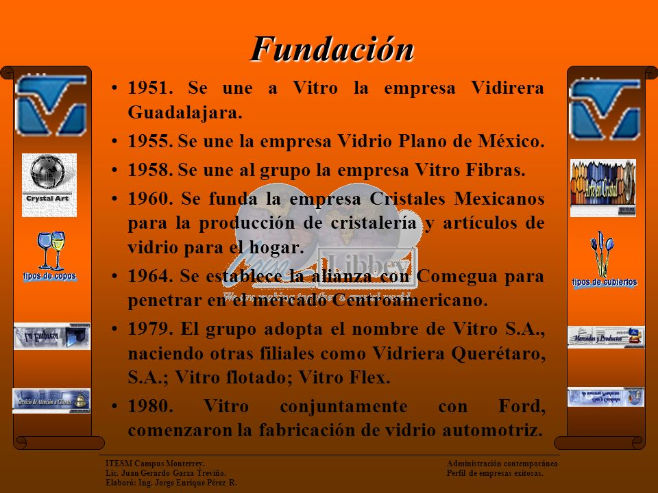 Fundación 1951. Se une a Vitro la empresa Vidirera Guadalajara.
