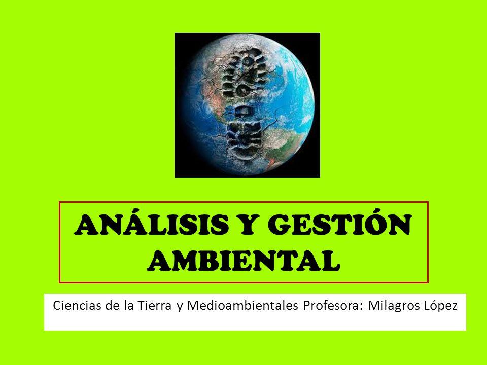 ANÁLISIS Y GESTIÓN AMBIENTAL