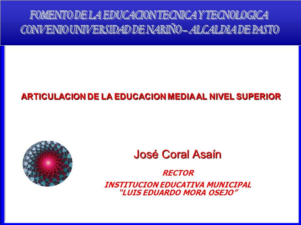 José Coral Asaín FOMENTO DE LA EDUCACION TECNICA Y TECNOLOGICA