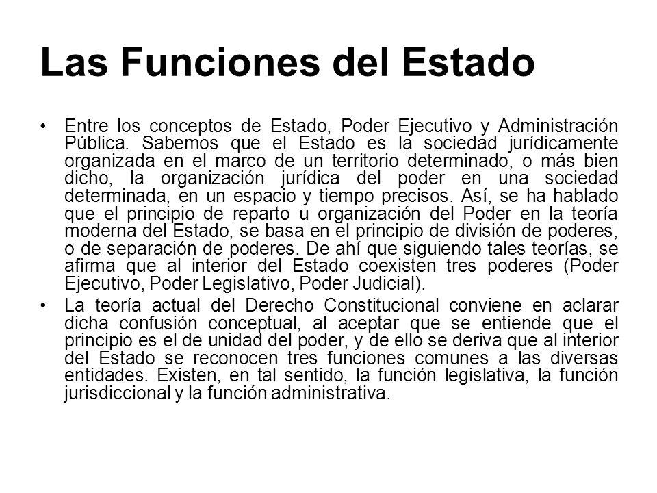 Las Funciones del Estado