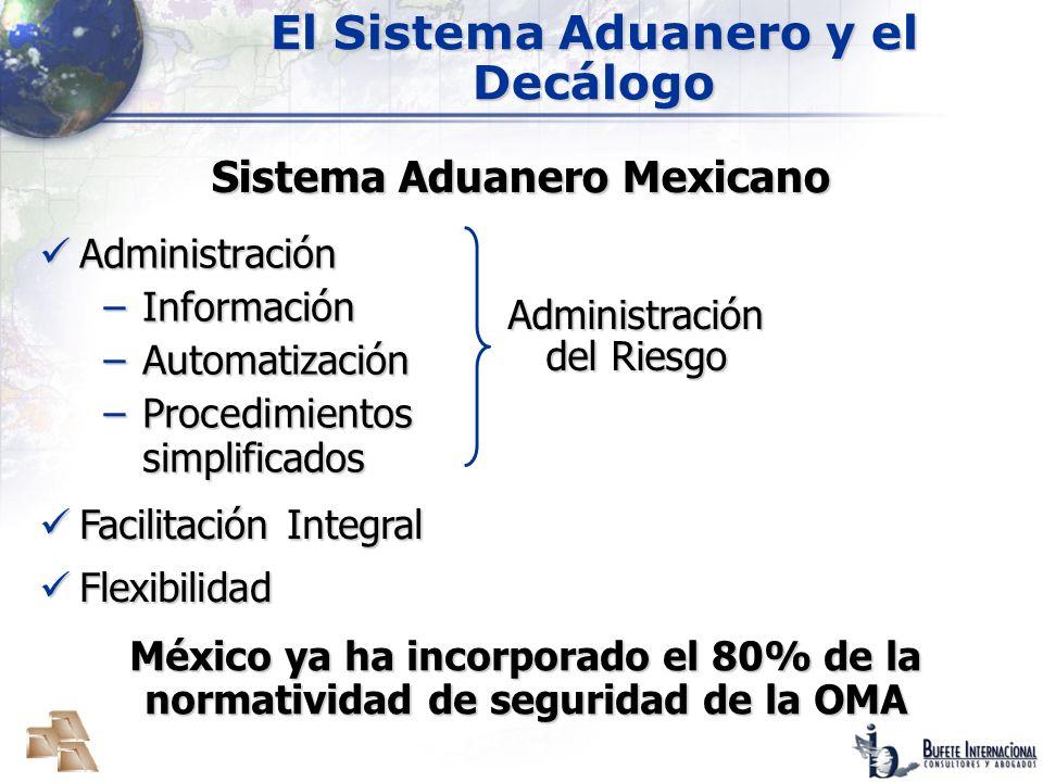 El Sistema Aduanero y el Decálogo Sistema Aduanero Mexicano
