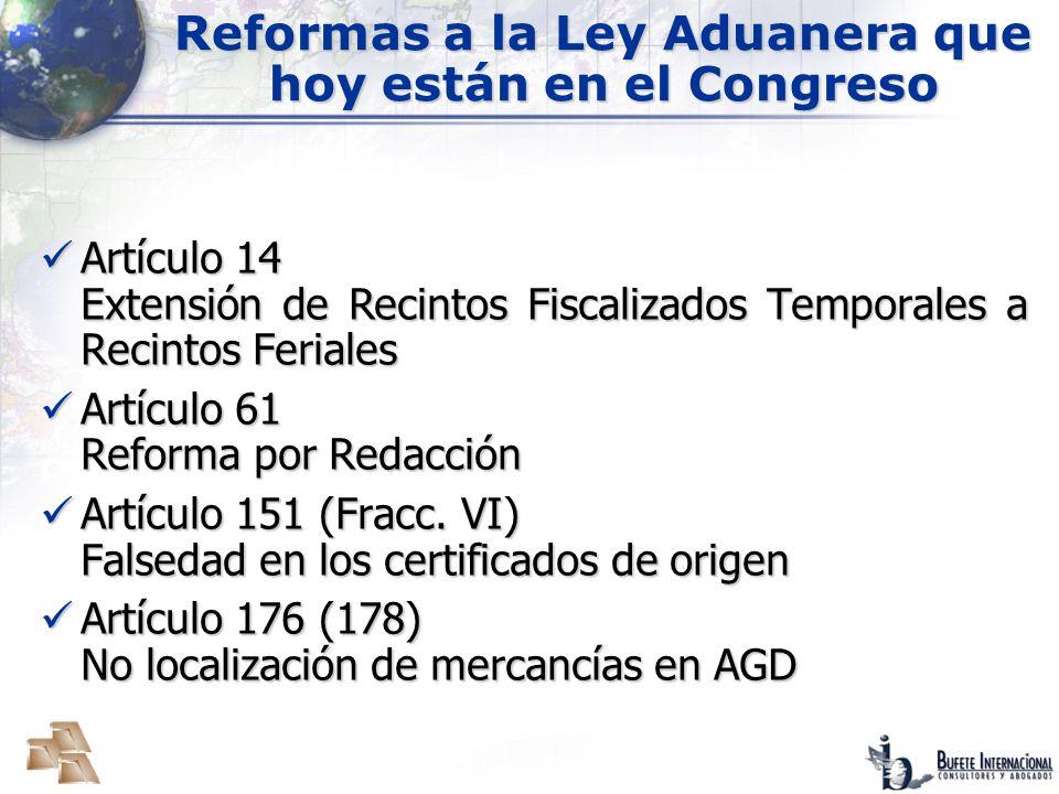 Reformas a la Ley Aduanera que hoy están en el Congreso