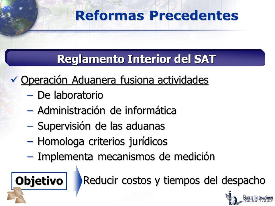 Reglamento Interior del SAT