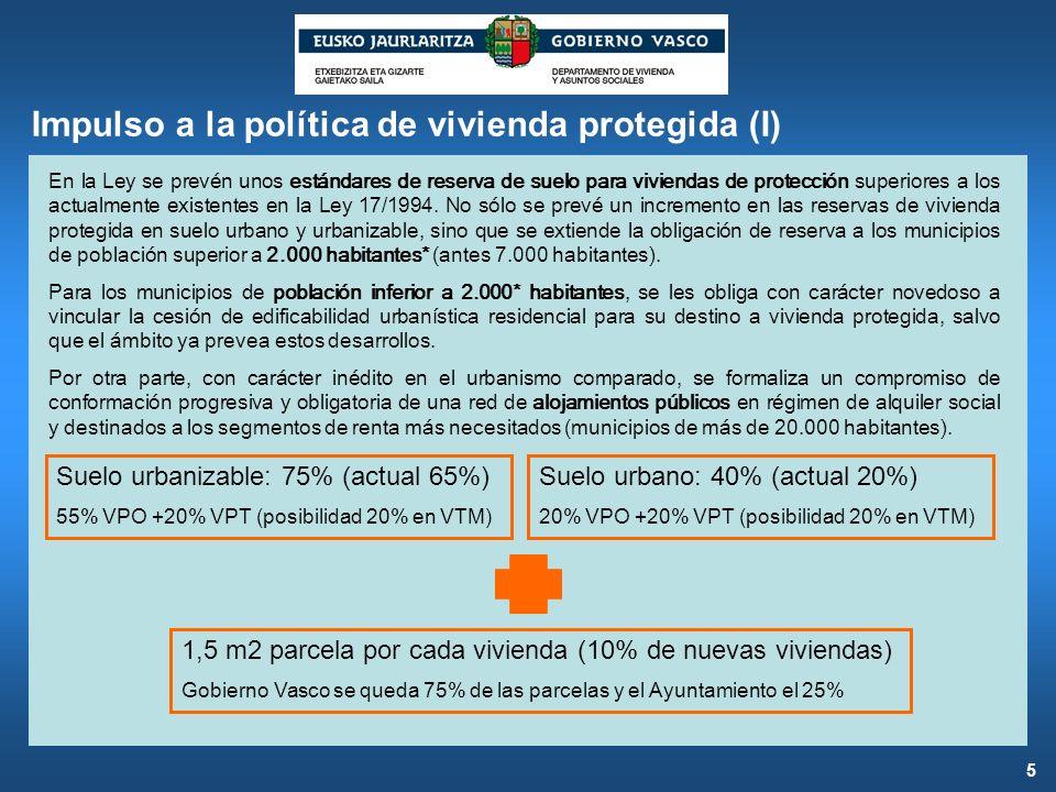 Impulso a la política de vivienda protegida (I)
