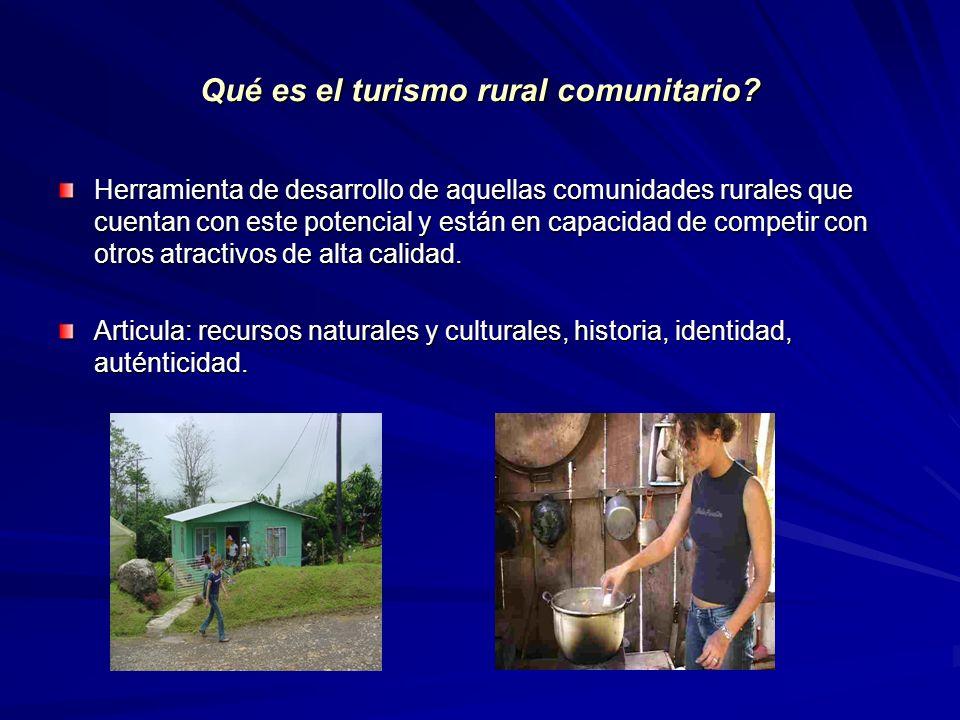 Qué es el turismo rural comunitario