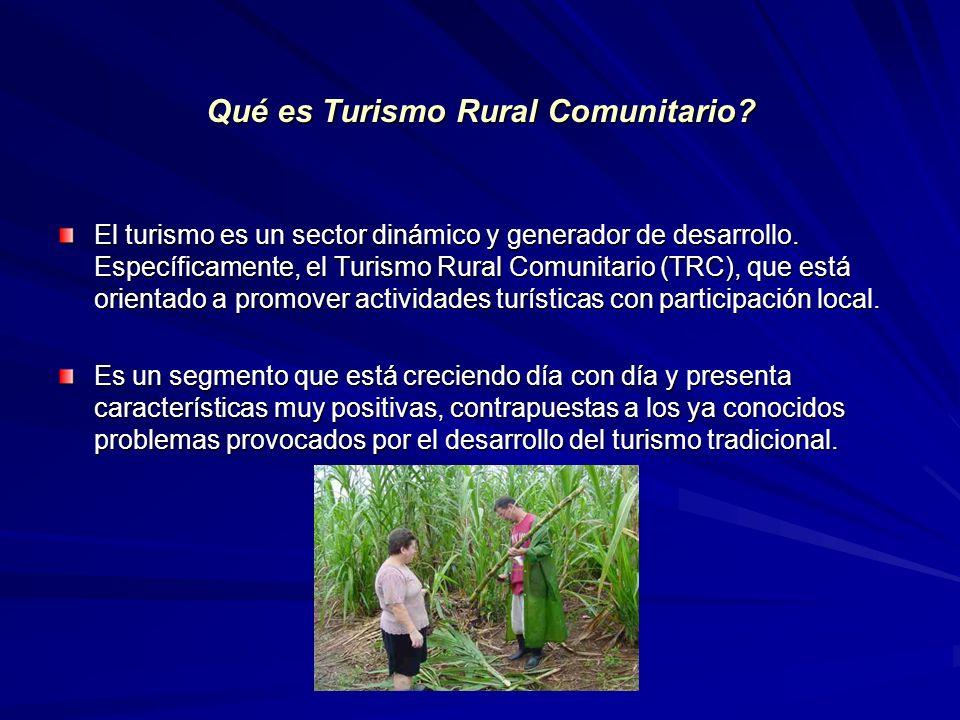 Qué es Turismo Rural Comunitario