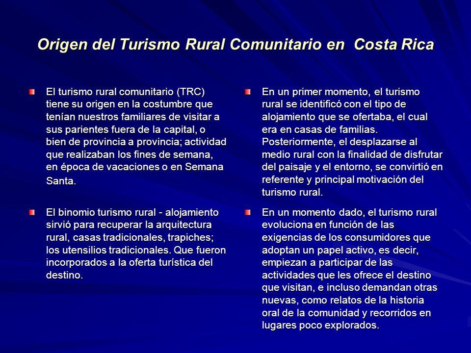 Origen del Turismo Rural Comunitario en Costa Rica