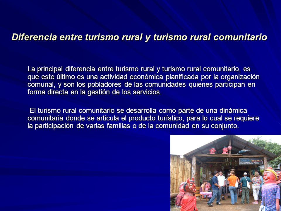 Diferencia entre turismo rural y turismo rural comunitario