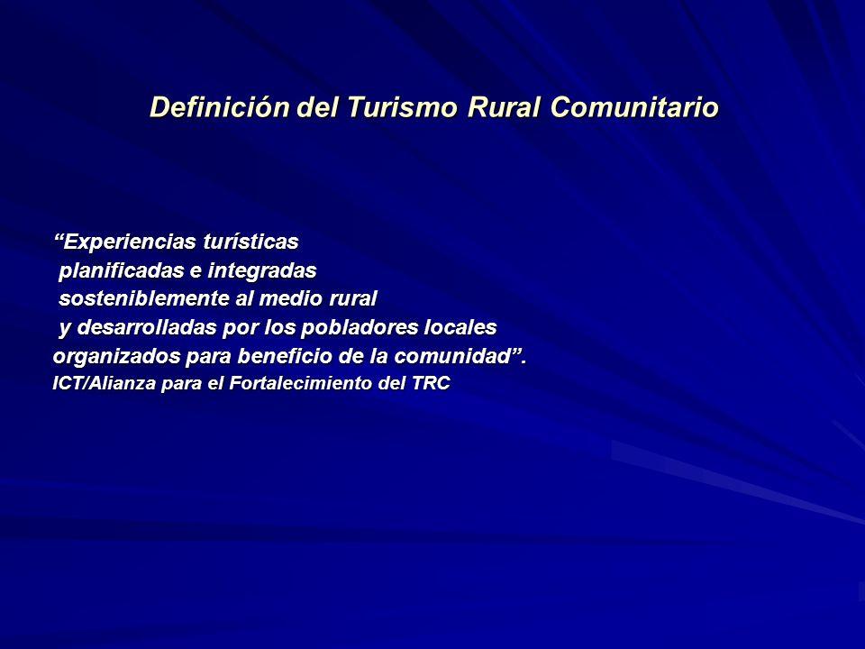 Definición del Turismo Rural Comunitario