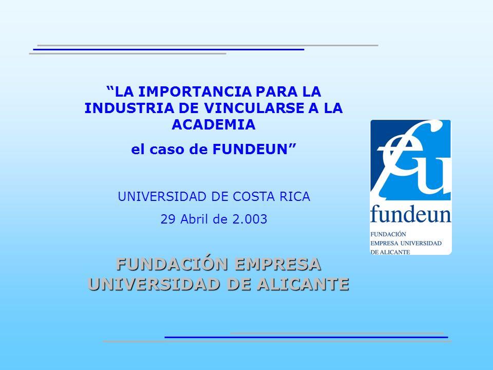 FUNDACIÓN EMPRESA UNIVERSIDAD DE ALICANTE