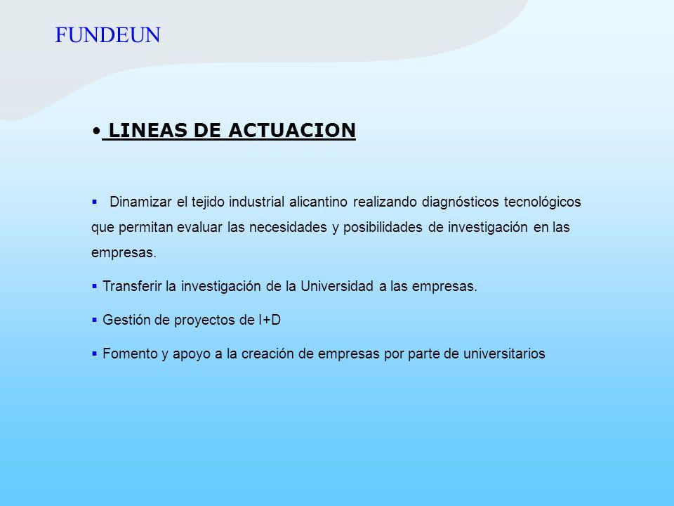 FUNDEUN LINEAS DE ACTUACION