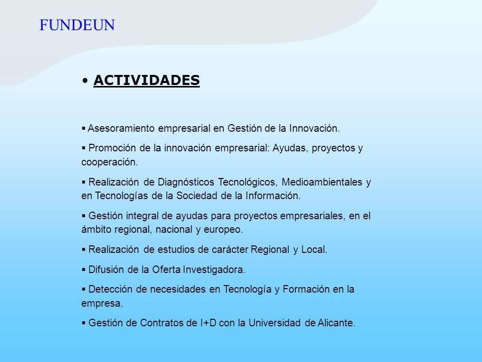 FUNDEUN ACTIVIDADES. Asesoramiento empresarial en Gestión de la Innovación.