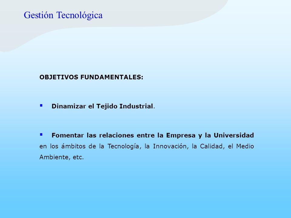 Gestión Tecnológica OBJETIVOS FUNDAMENTALES:
