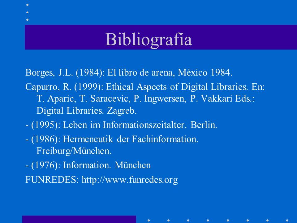 Bibliografía Borges, J.L. (1984): El libro de arena, México 1984.