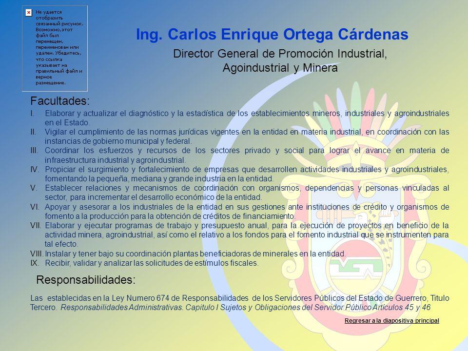 Ing. Carlos Enrique Ortega Cárdenas