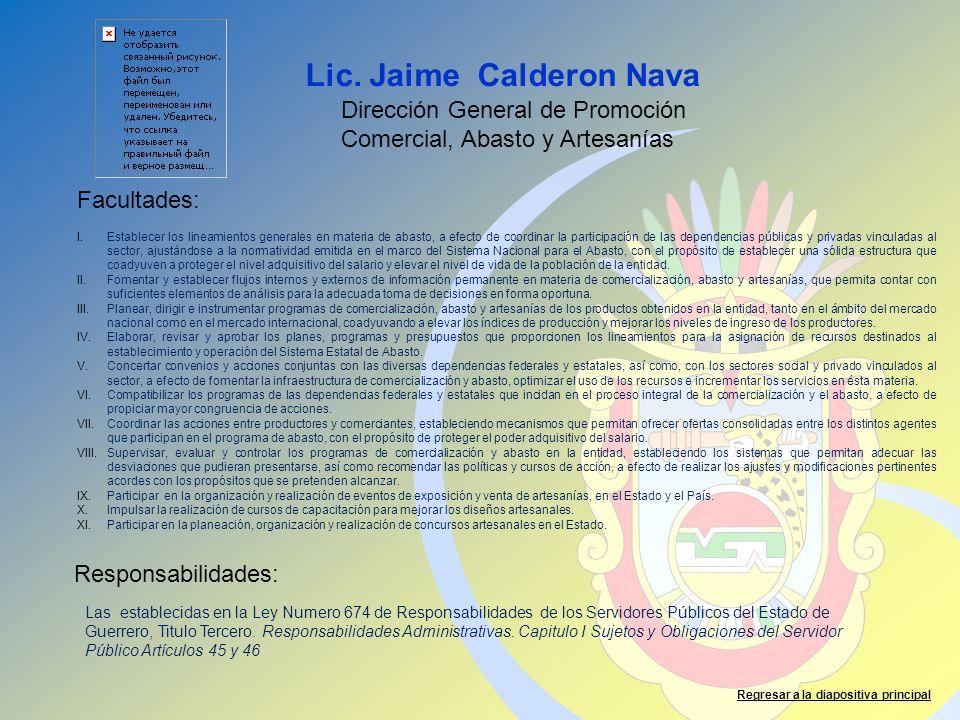 Lic. Jaime Calderon Nava