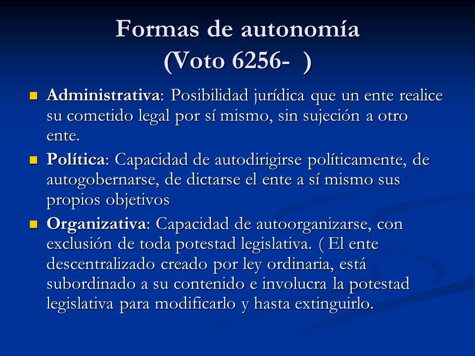 Formas de autonomía (Voto 6256- )