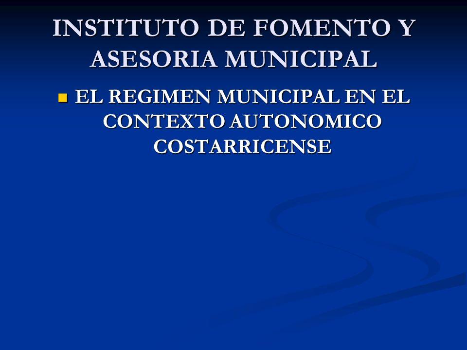 INSTITUTO DE FOMENTO Y ASESORIA MUNICIPAL