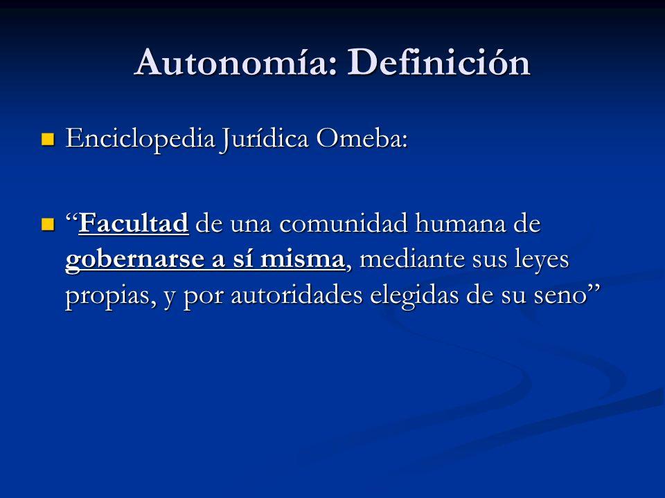 Autonomía: Definición