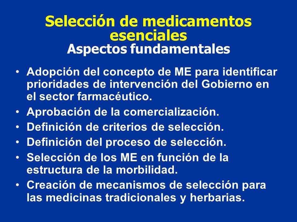 Selección de medicamentos esenciales Aspectos fundamentales