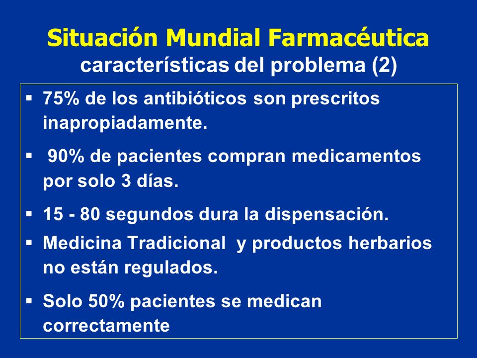 Situación Mundial Farmacéutica características del problema (2)