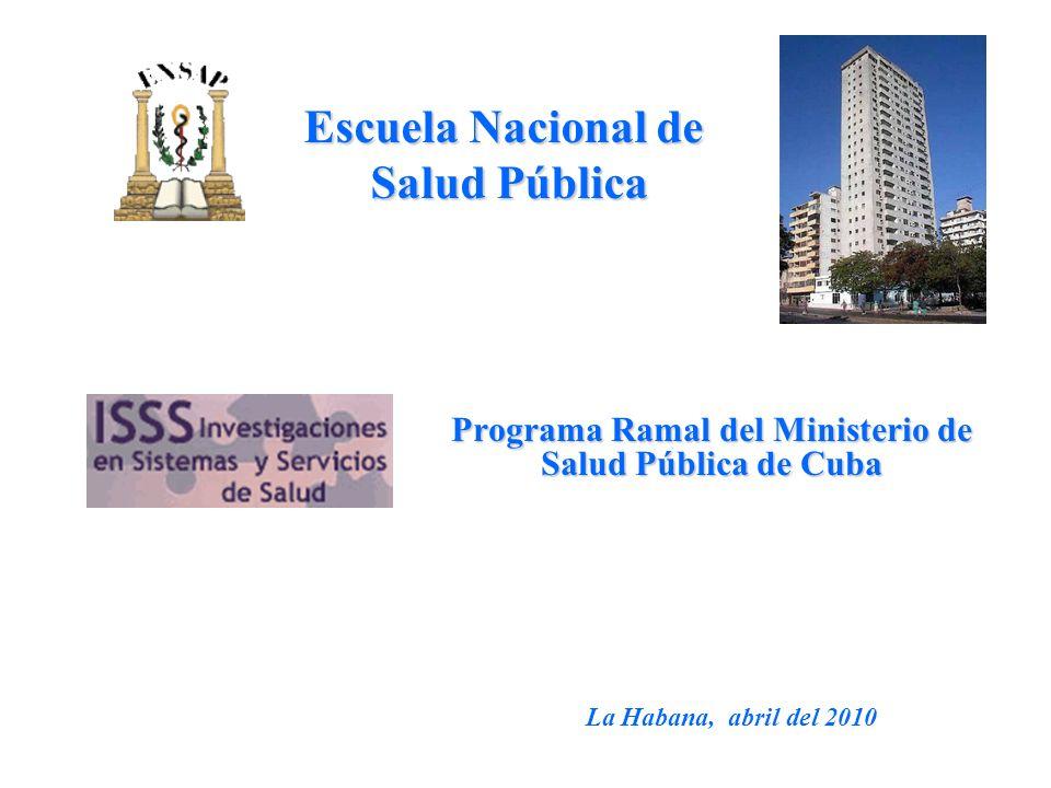 Programa Ramal del Ministerio de Salud Pública de Cuba