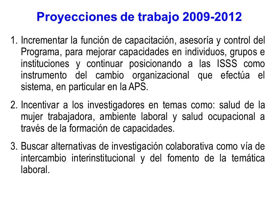Proyecciones de trabajo 2009-2012