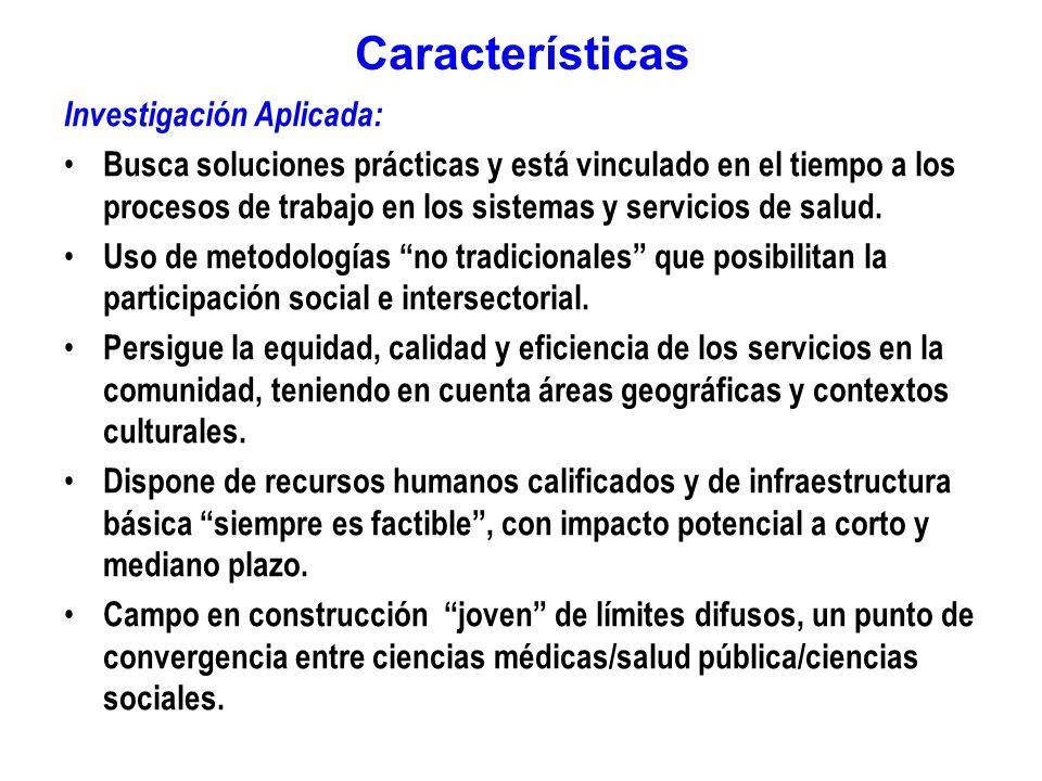 Características Investigación Aplicada: