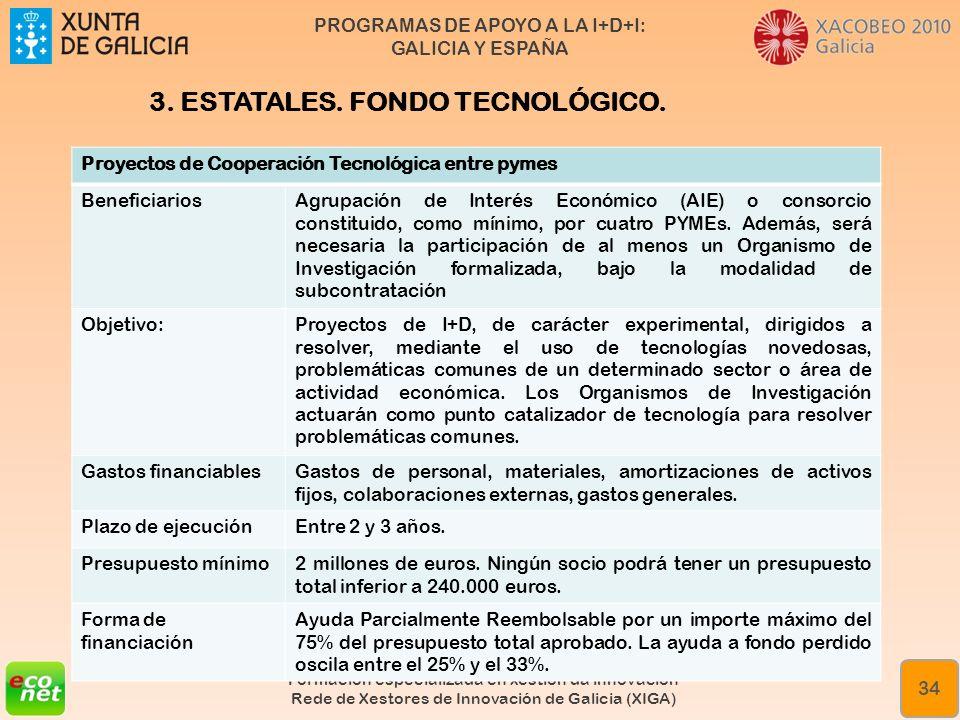 3. ESTATALES. FONDO TECNOLÓGICO.