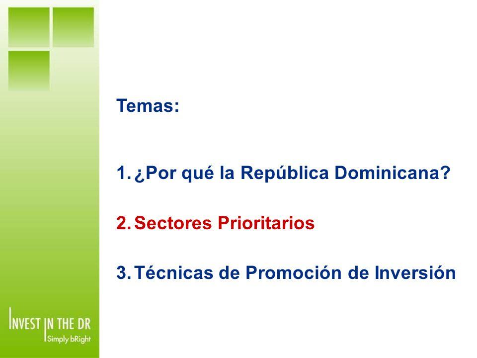 ¿Por qué la República Dominicana Sectores Prioritarios