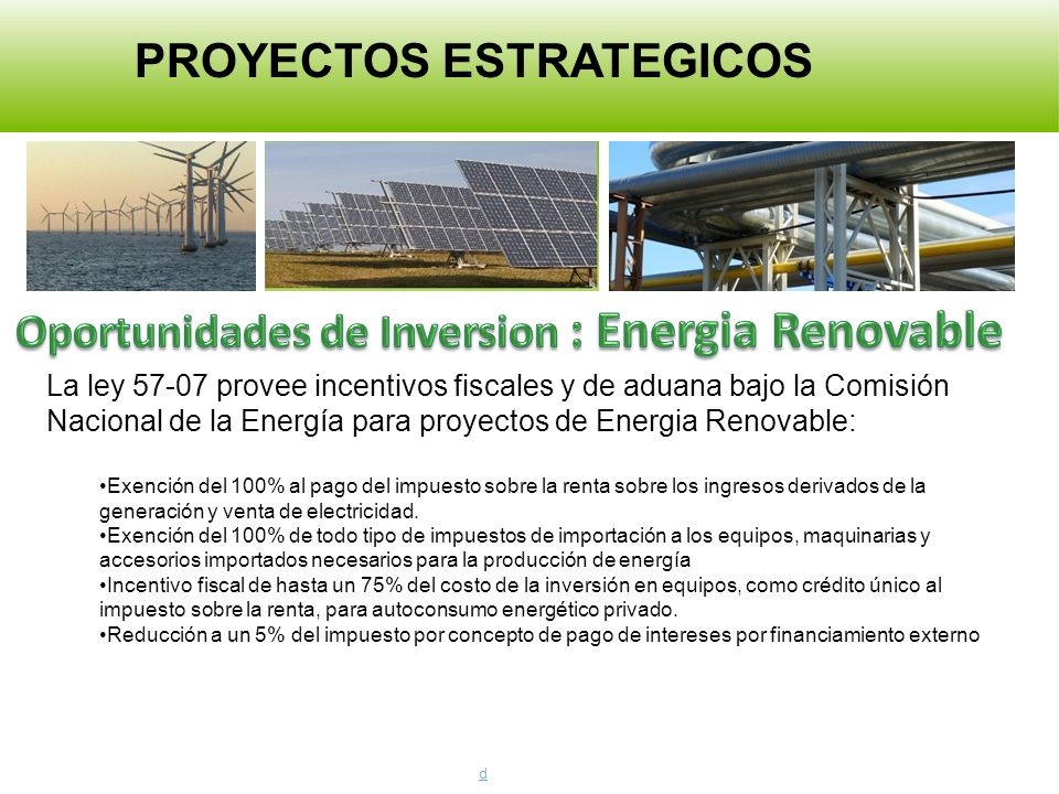 Oportunidades de Inversion : Energia Renovable