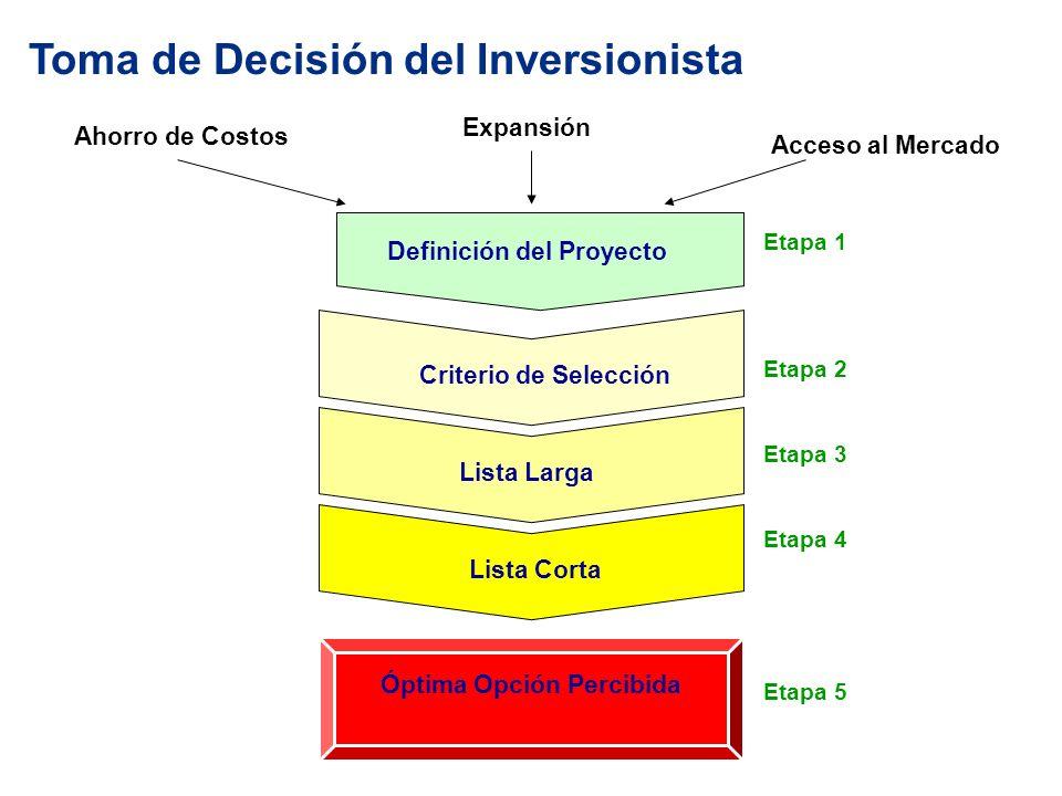 Toma de Decisión del Inversionista