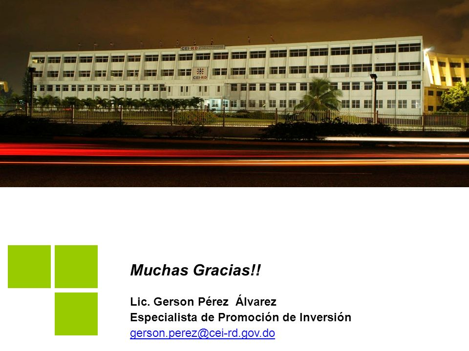 Muchas Gracias!! Lic. Gerson Pérez Álvarez