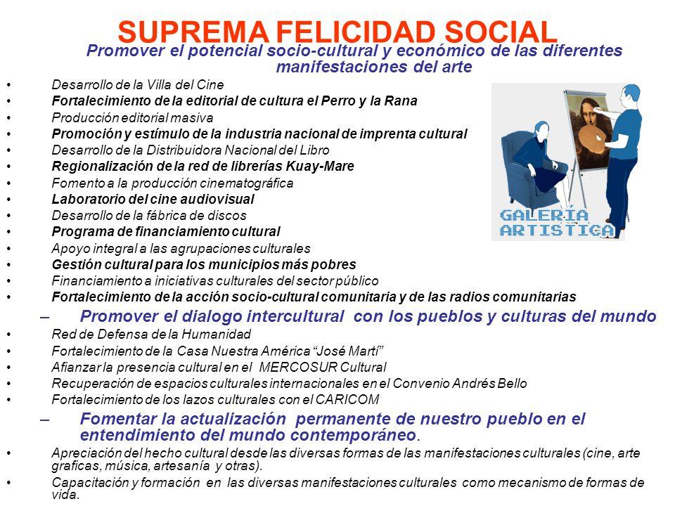 SUPREMA FELICIDAD SOCIAL
