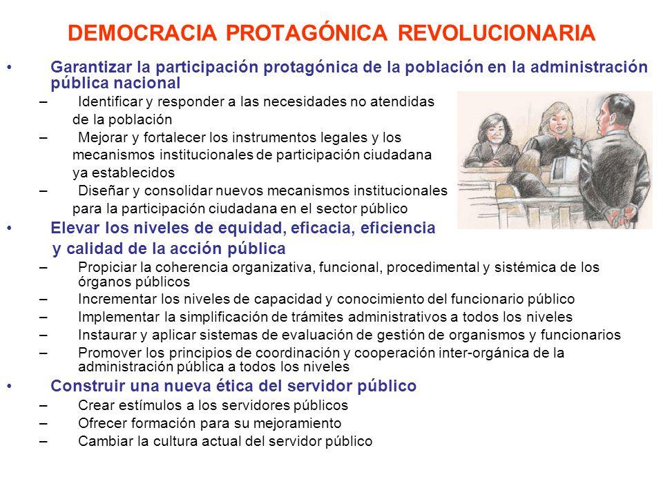 DEMOCRACIA PROTAGÓNICA REVOLUCIONARIA