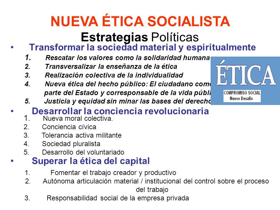 NUEVA ÉTICA SOCIALISTA