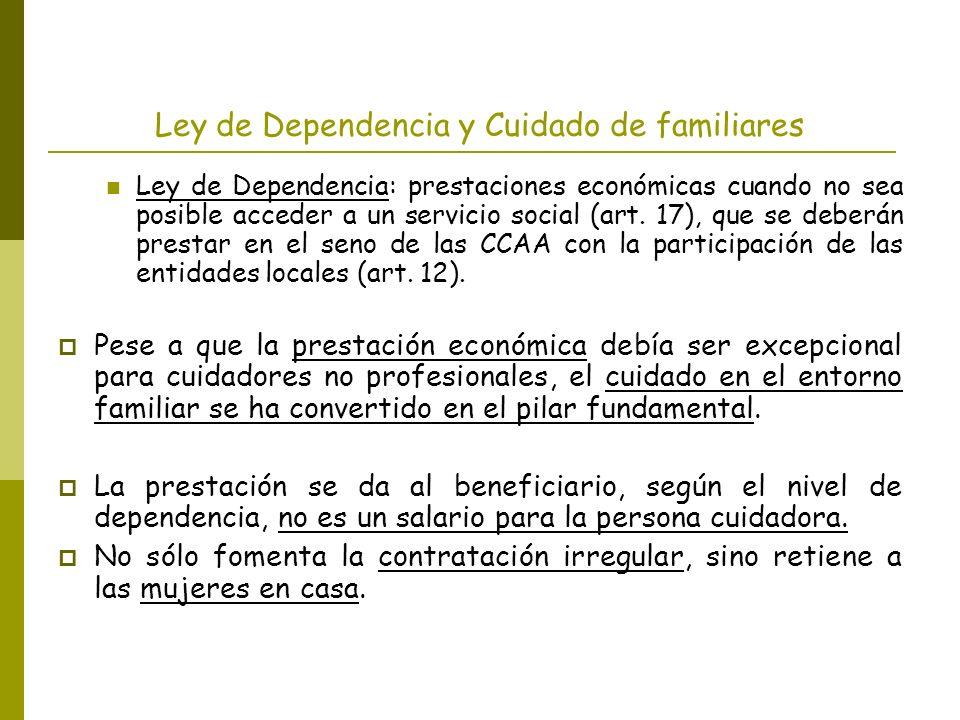 Ley de Dependencia y Cuidado de familiares