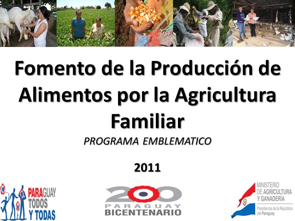 Fomento de la Producción de Alimentos por la Agricultura Familiar
