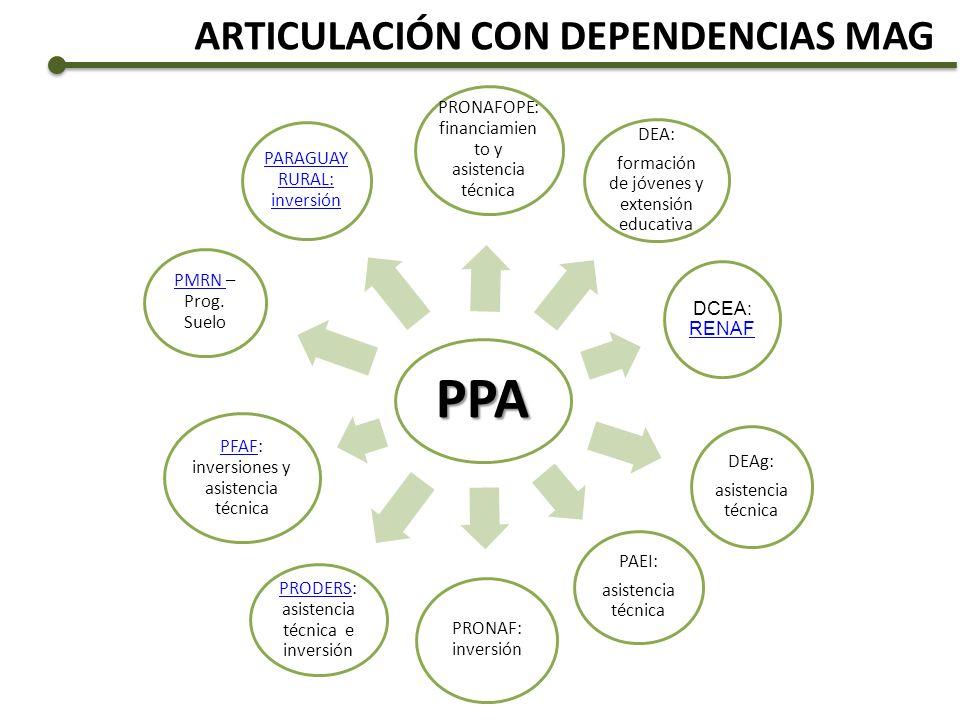 PPA ARTICULACIÓN CON DEPENDENCIAS MAG