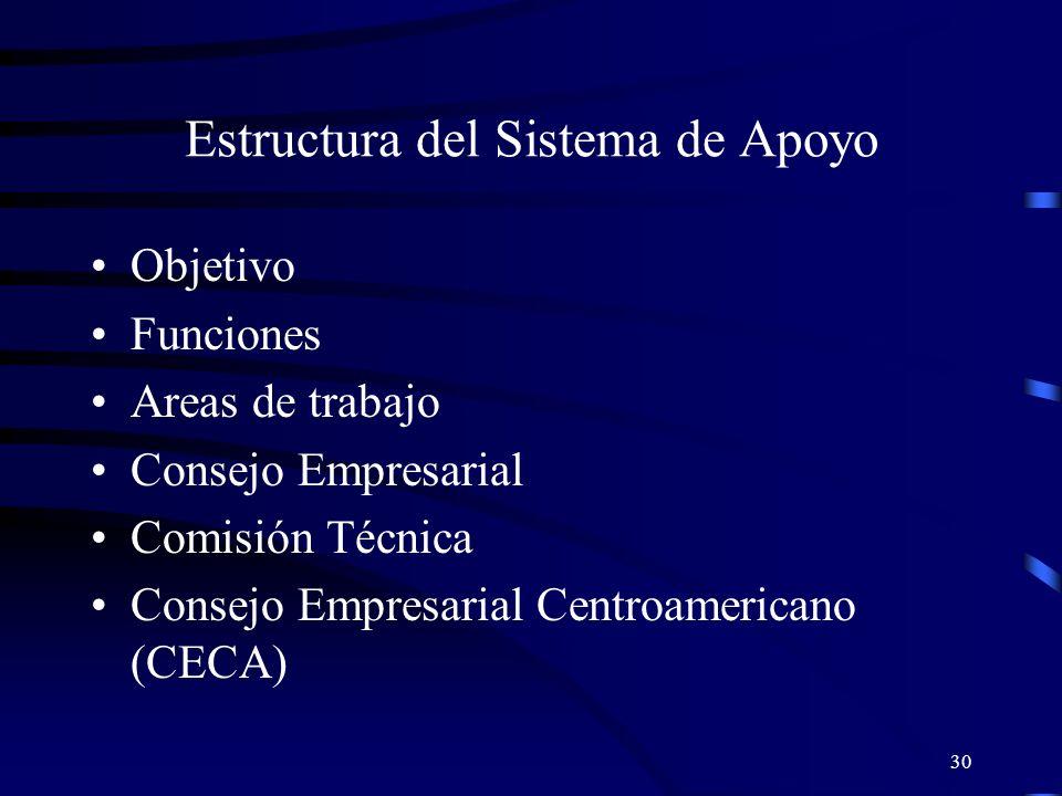 Estructura del Sistema de Apoyo