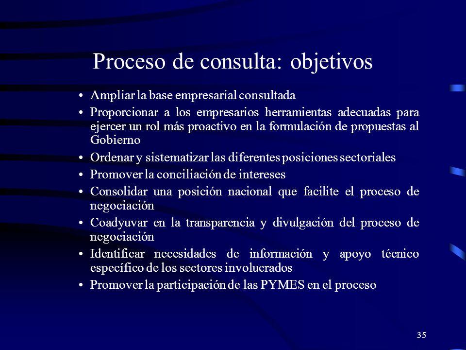 Proceso de consulta: objetivos