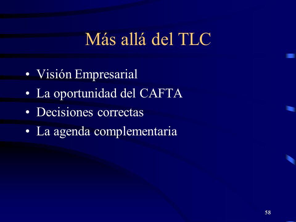 Más allá del TLC Visión Empresarial La oportunidad del CAFTA