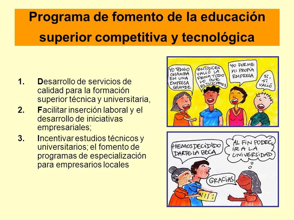 Programa de fomento de la educación superior competitiva y tecnológica