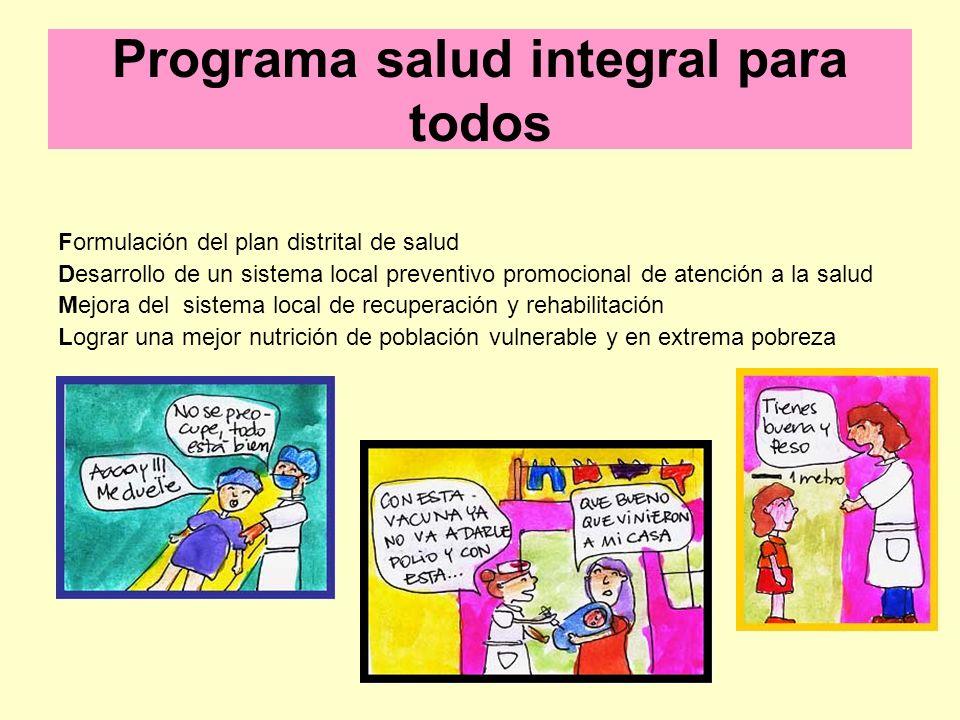 Programa salud integral para todos